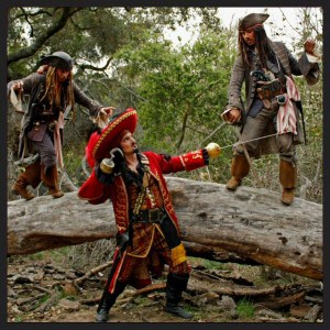 Captain Jack and Captain Hook with Captain Jack?