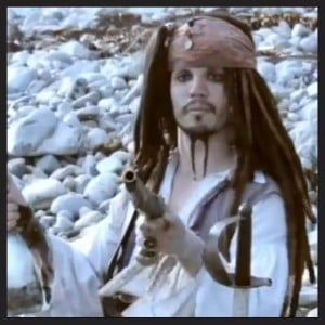 "Captain Jack in ""The Adventures of Young Jack Sparrow"""
