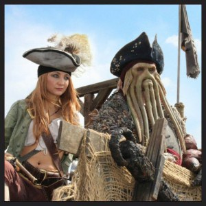 Davy Jones with Kitty Lynch